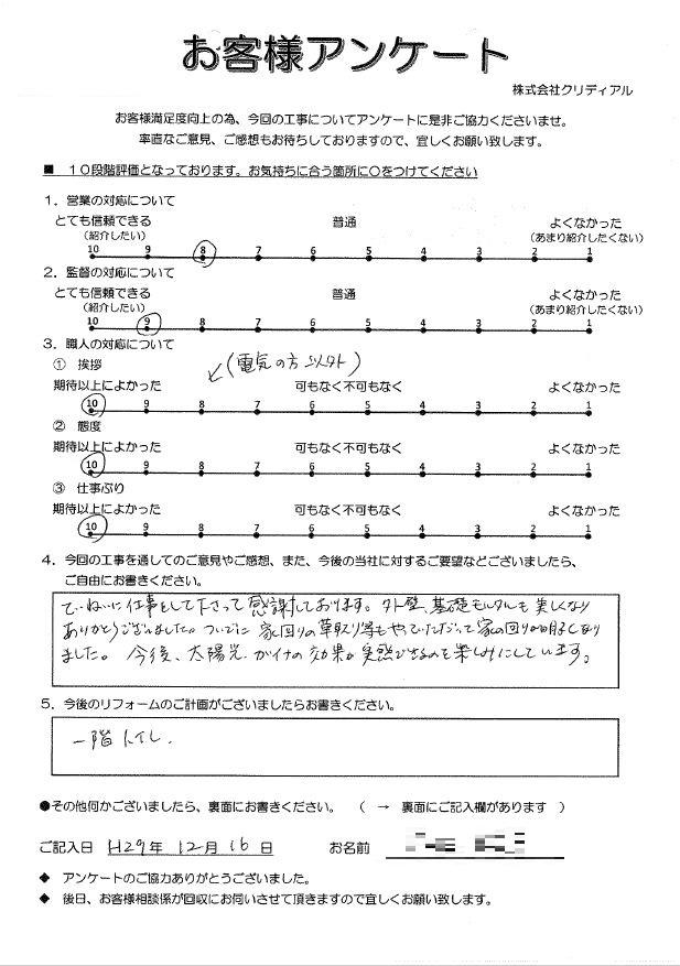 i様ガイナ・太陽光アンケート